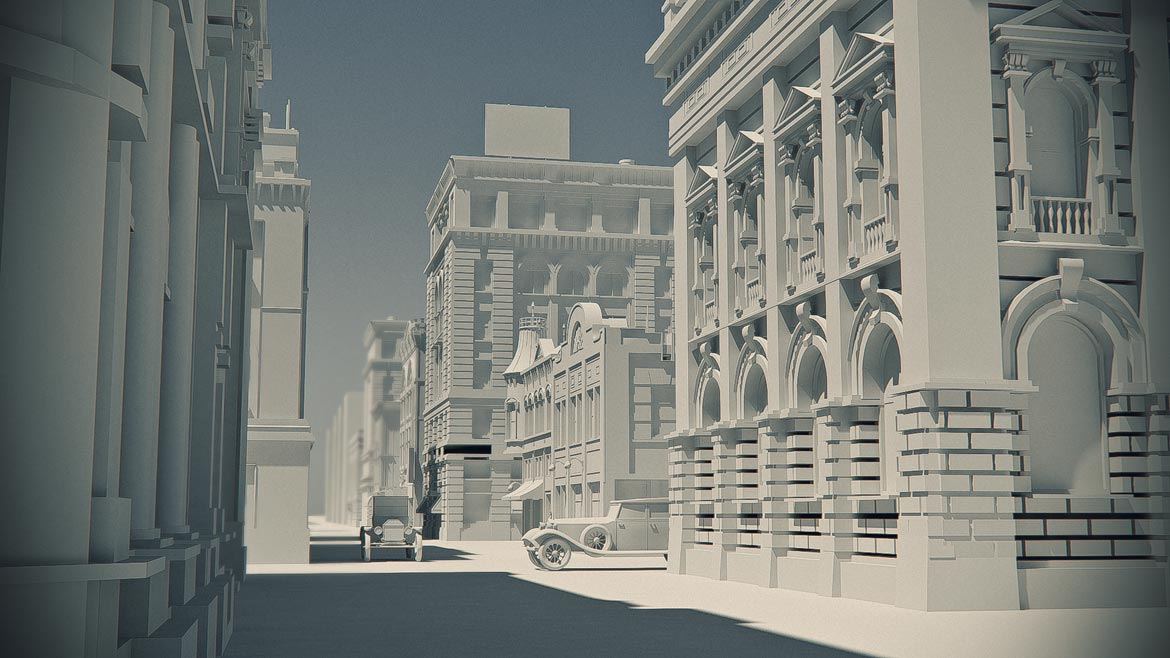 high poly old buildings