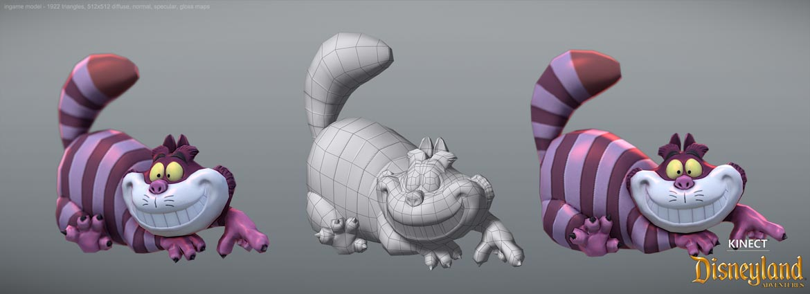 cheshire cat low poly
