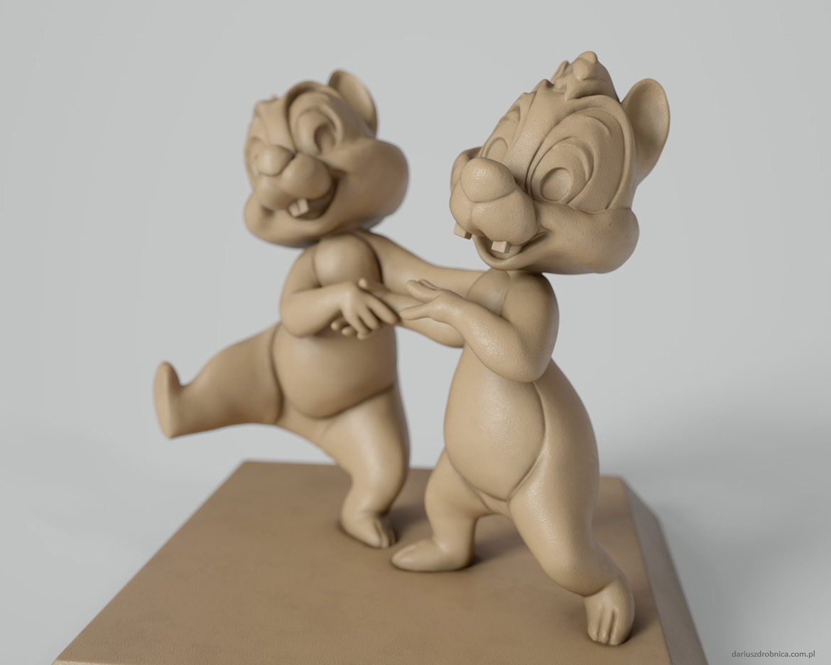 chip and dale high poly sculpt